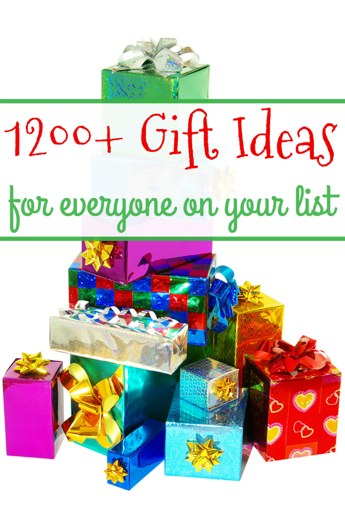 A MEGA GIFT GUIDE with over 1200 ideas for everyone on your shopping list!