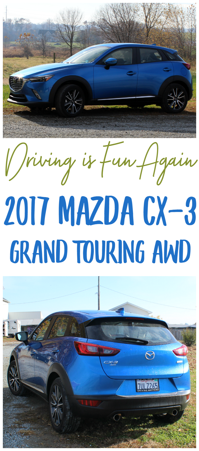 This mom gives her real-life thoughts on the 2017 Mazda CX-3 Grand Touring AWD.