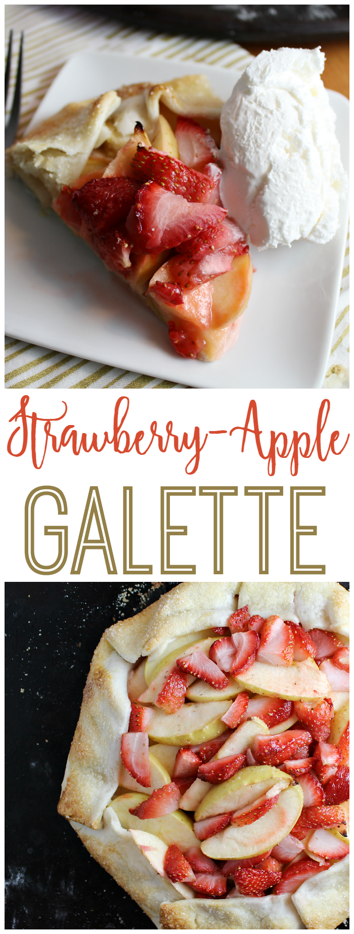 This Strawberry-Apple Galette is the perfect treat to serve at brunch or for dessert! The kids can even help!