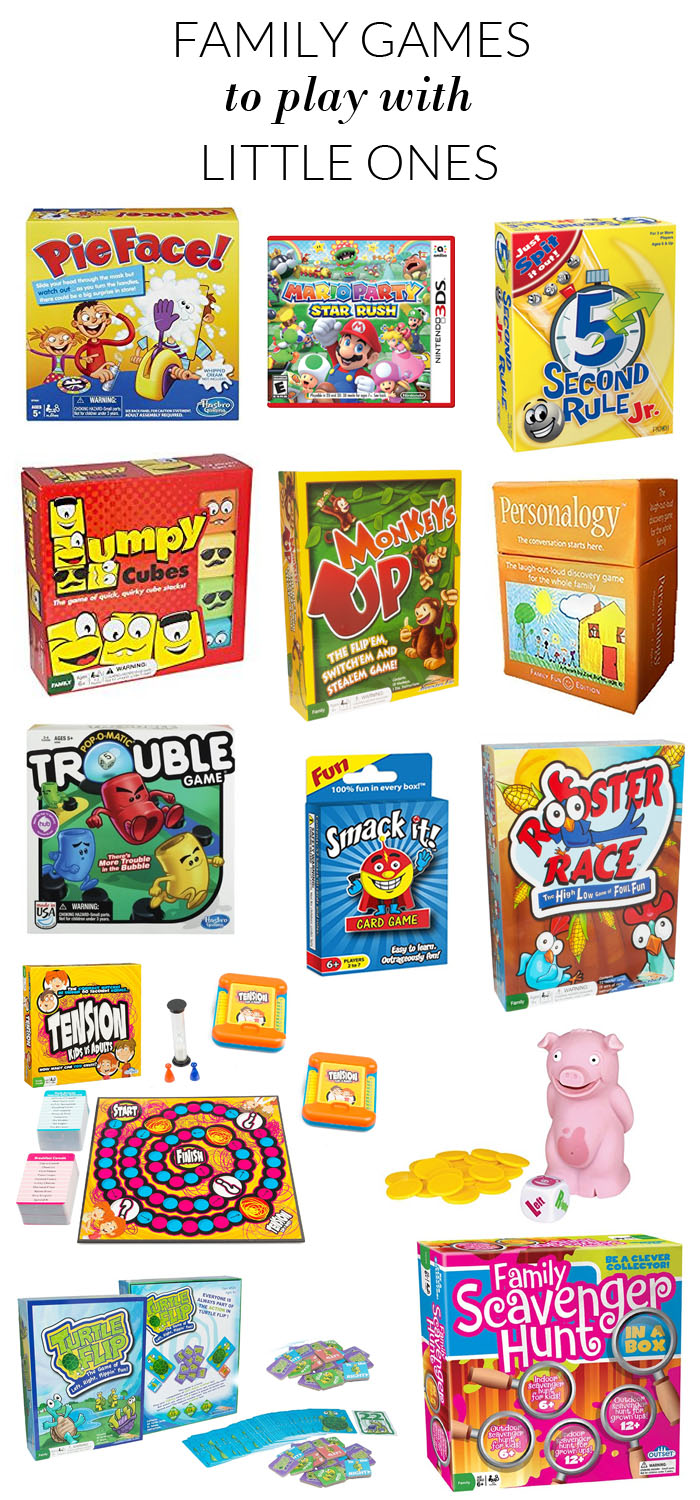 Fun Family Games for the Whole Family! Yes, even the little ones!
