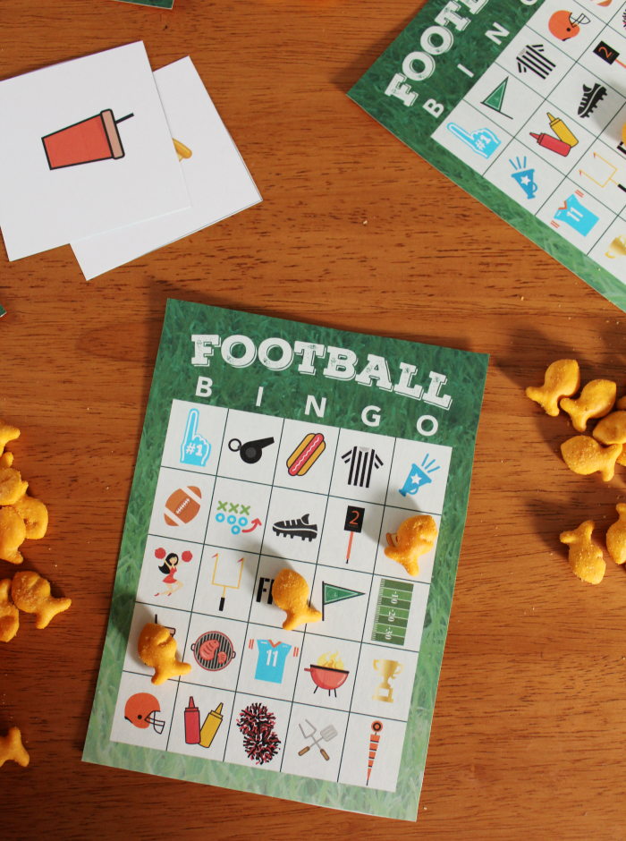 Free Printable Football Bingo Game - The Shirley Journey