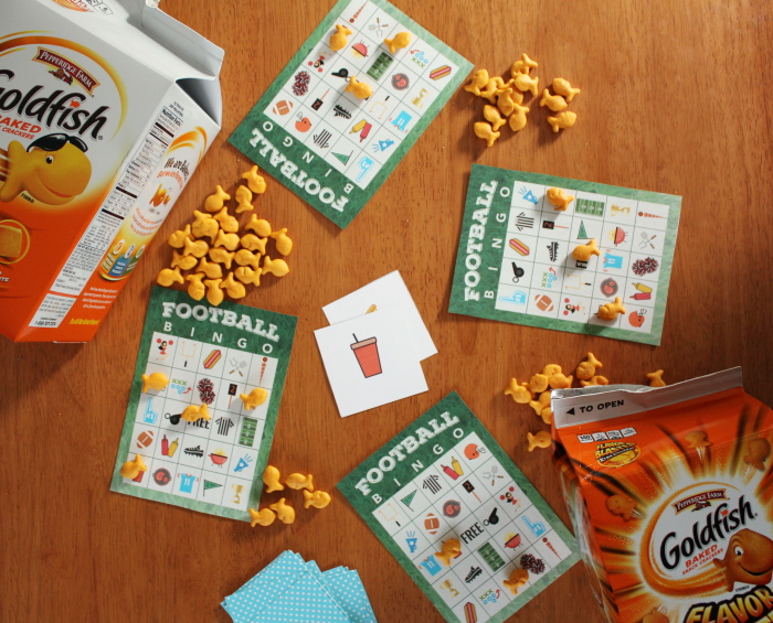 Free printable football bingo game the shirley journey for Gold fish card game