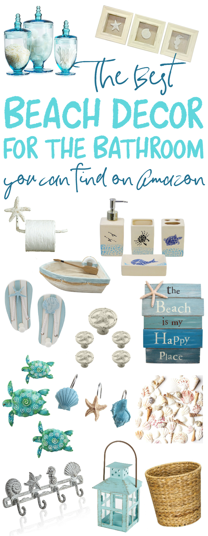 You need to see these great finds on Amazon to decorate your bathroom with a beach theme!